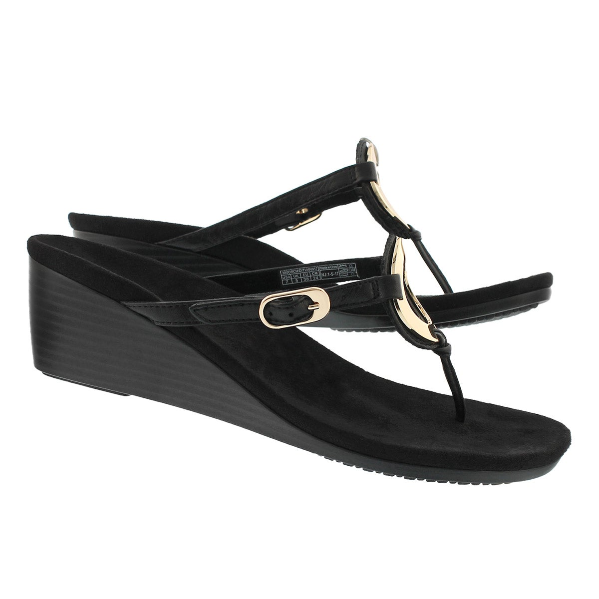 Lds Orchid bk arch support thng wdg sndl