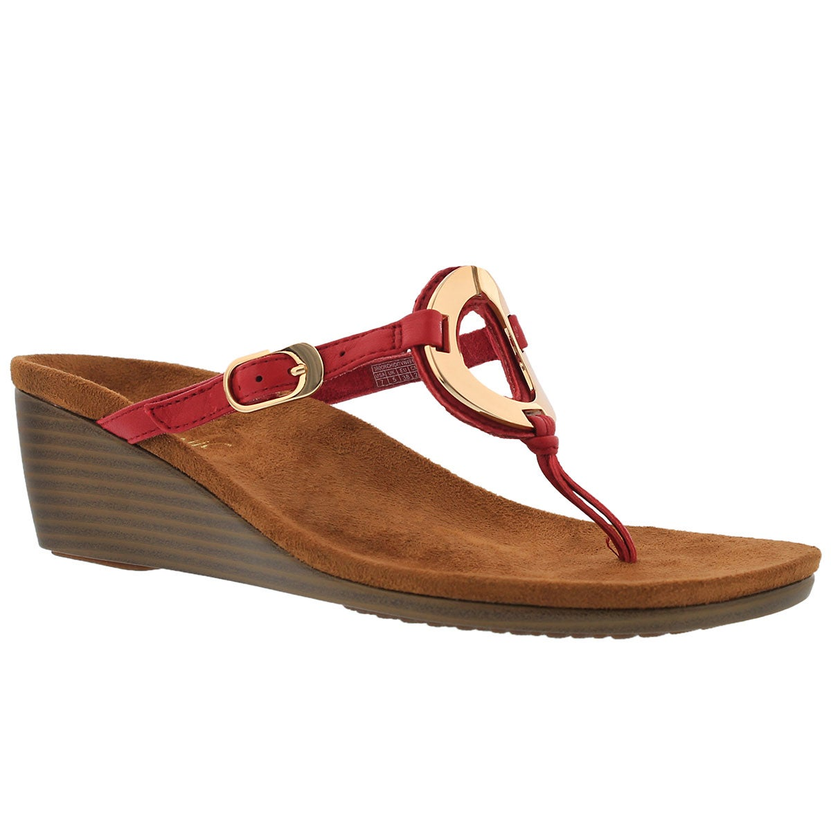 Women's ORCHID red arch support thong sandals