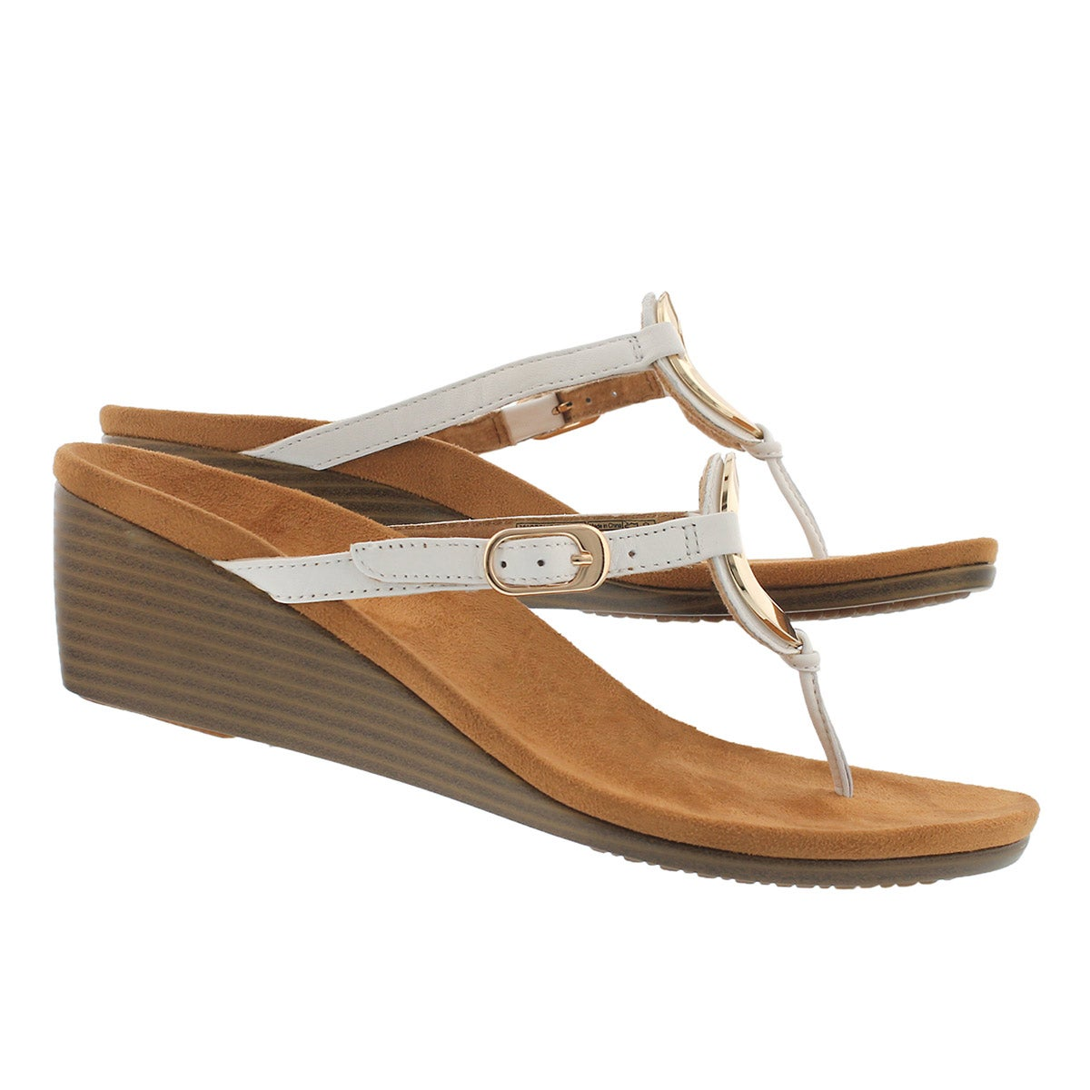 Lds Orchid wt arch support thng wdg sndl