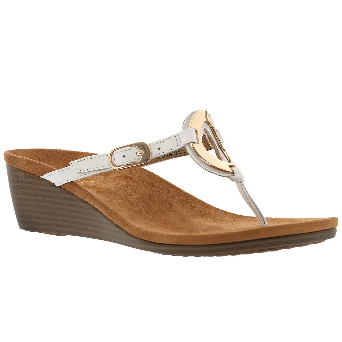 Women's ORCHID wht arch support tthong sandals