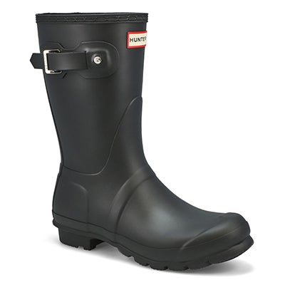 Hunter Women's ORIGINAL SHORT CLASSIC black rain boots