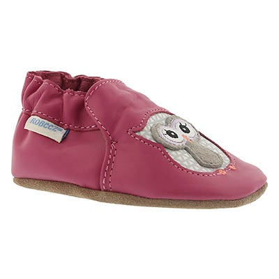 Robeez Infants' OWL PLAYMATES pink slippers