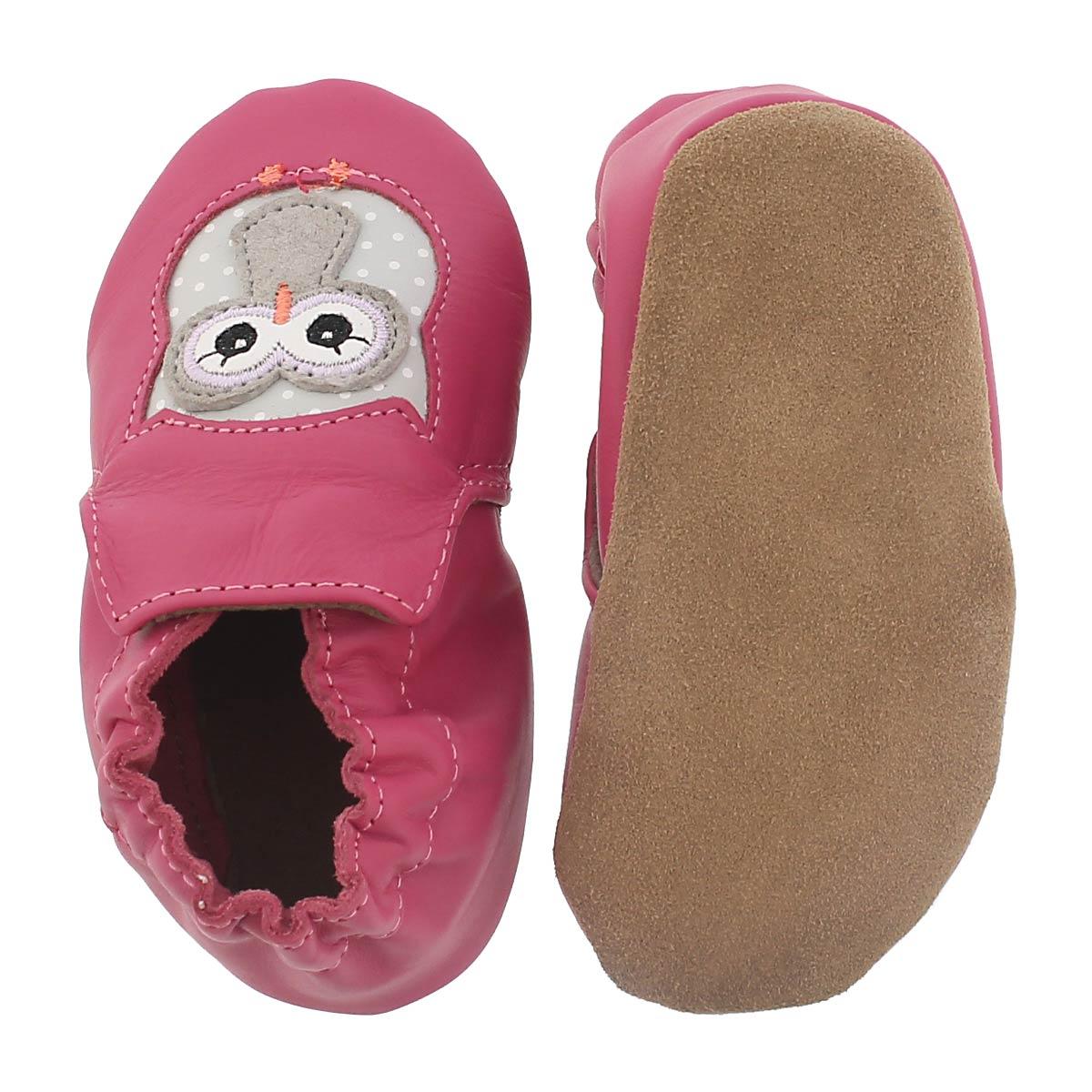 Pantoufle Owl Playmates, rose, bébés