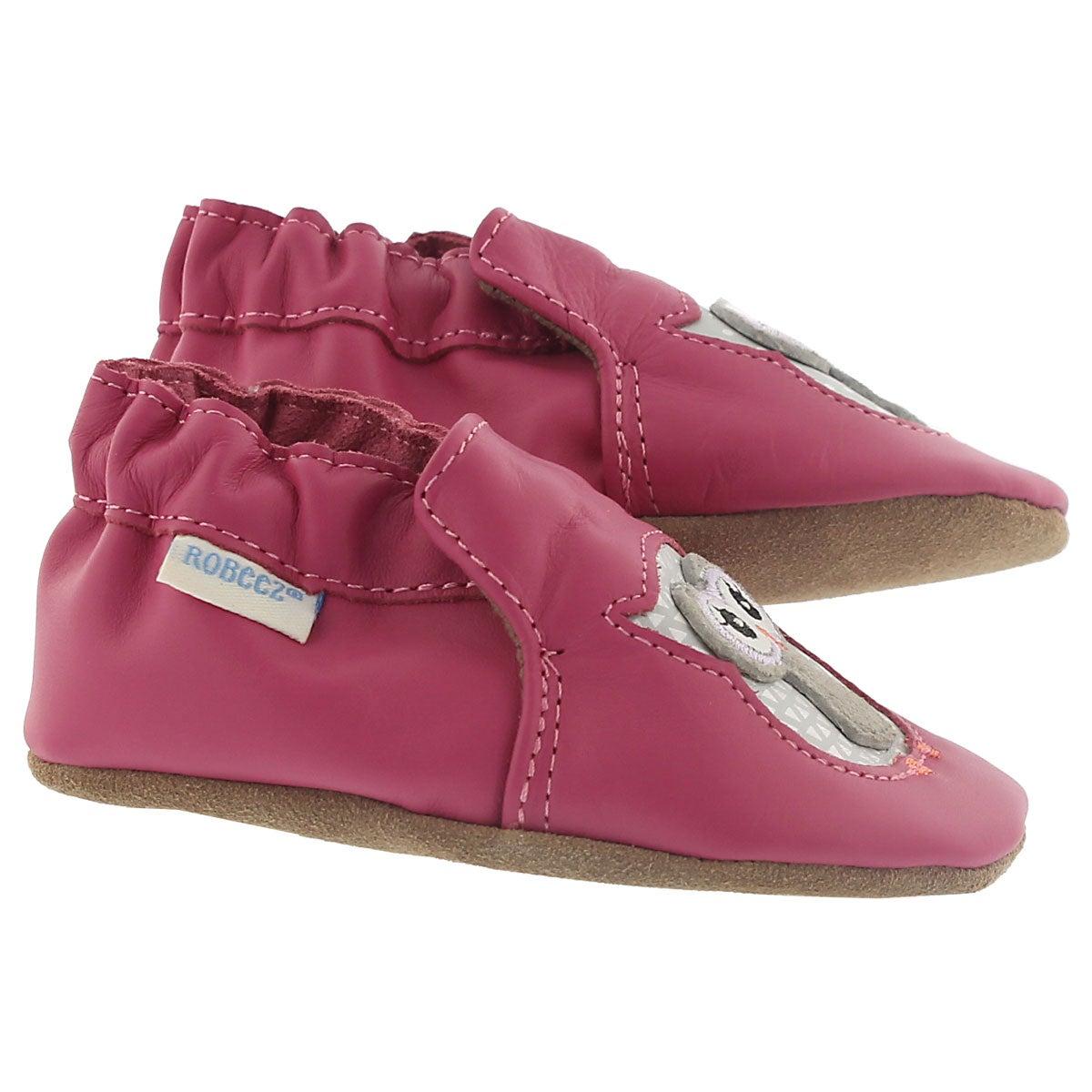 Infs-g Owl Playmates pink slipper