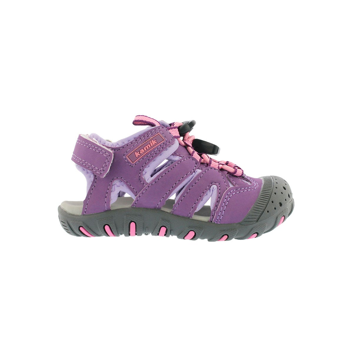 Infs-g Oyster purple fisherman sandal