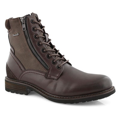 Mns Packer brn lace up combat boot