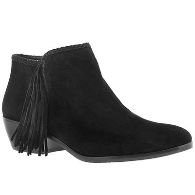 Sam Edelman Women's PAIGE black fringe casual booties