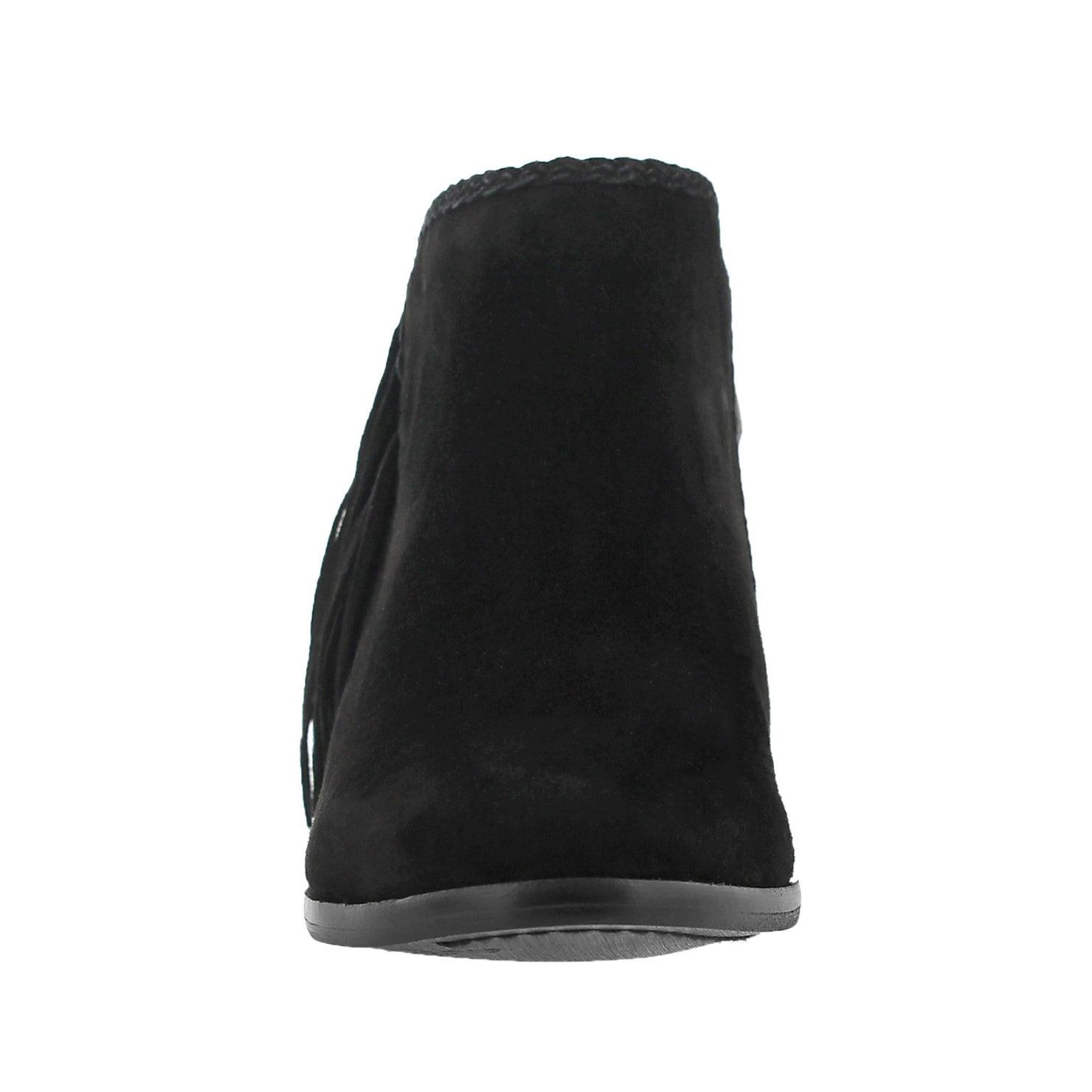 Lds Paige black fringe casual bootie