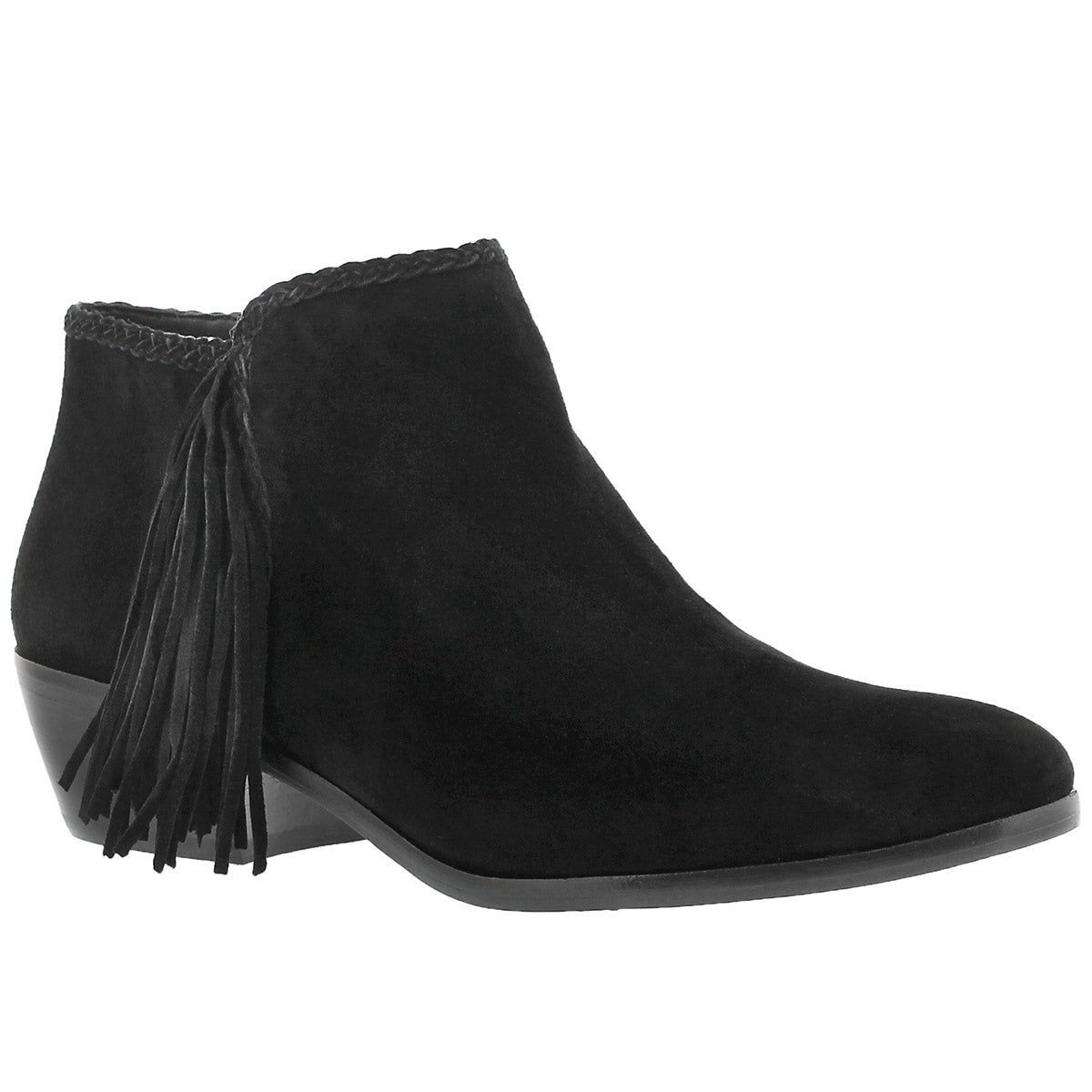 Women's PAIGE black fringe casual booties