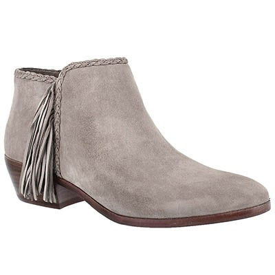 Sam Edelman Women's PAIGE putty fringe casual booties