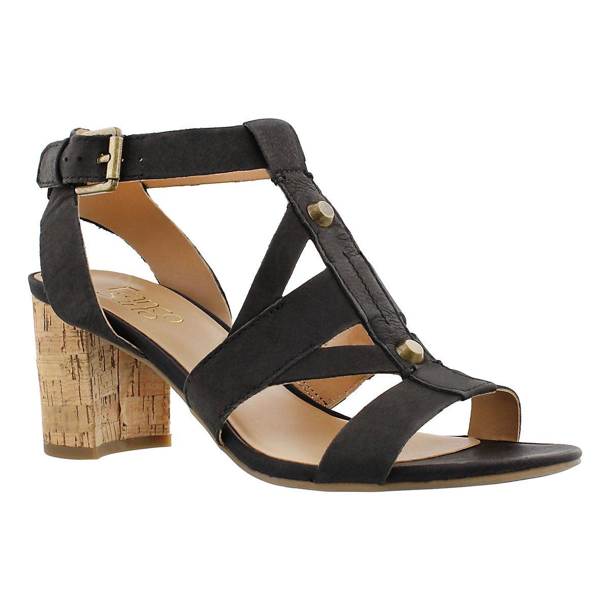 Lds Paloma black dress sandal