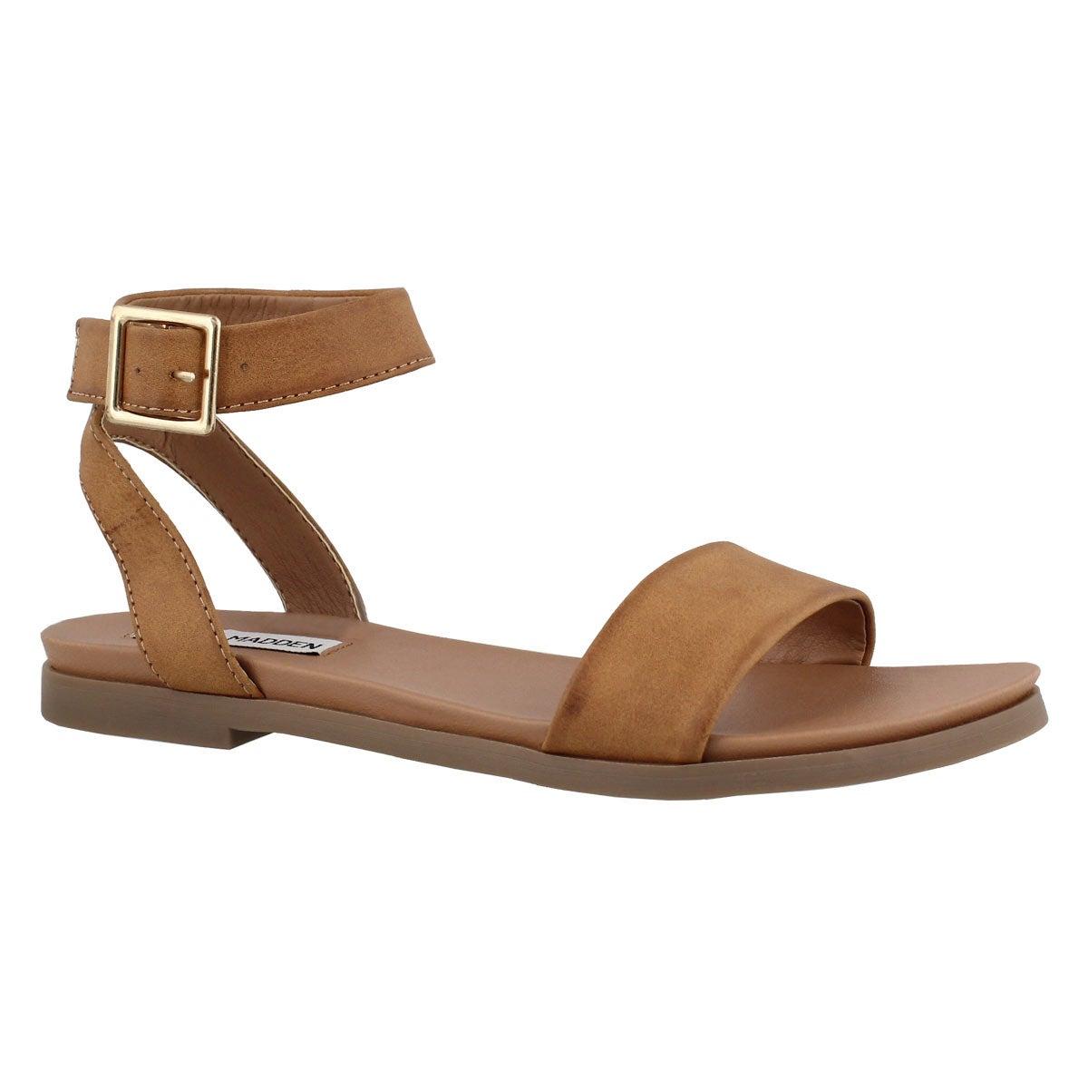 Women's PANA cognac ankle strap dress sandals
