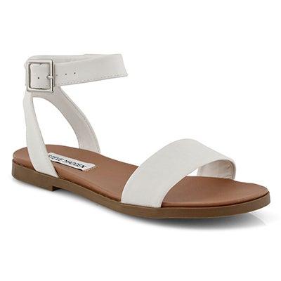 Lds Pana white ankle strap dress sndl