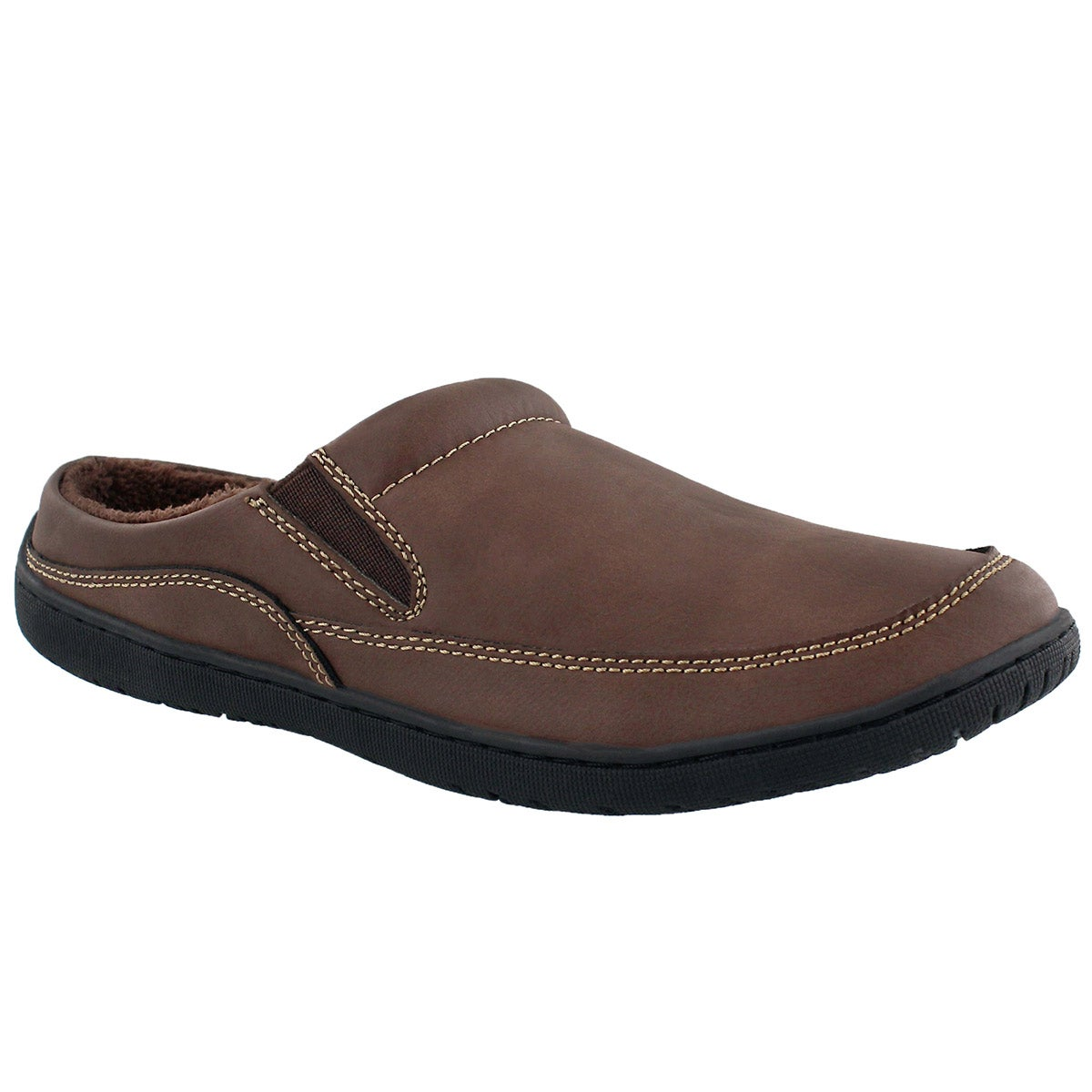 Mns Parkdale chocolate open back slipper