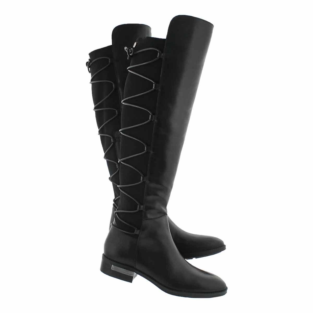 Lds Parle blk knee high dress boot