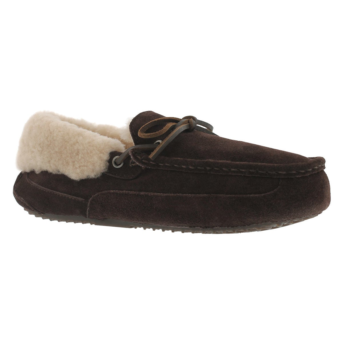 Men's PATRICK chocolate shearling lined moccasins