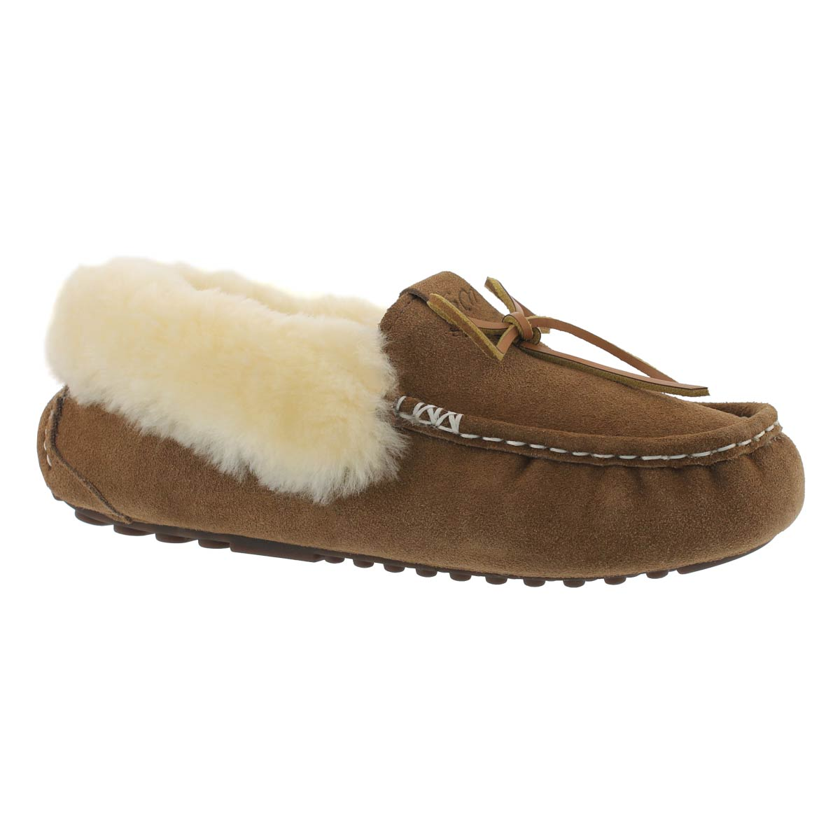 Women's PATTY ches shearling lined suede moccasins