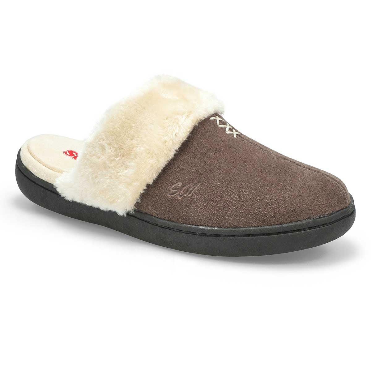 Lds Pauline grey open back slipper