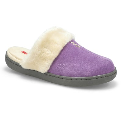 Lds Pauline lavender open back slipper