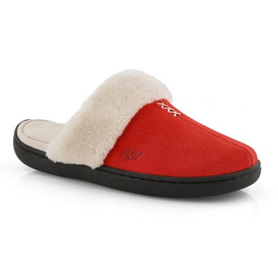 Lds Pauline red open back slipper
