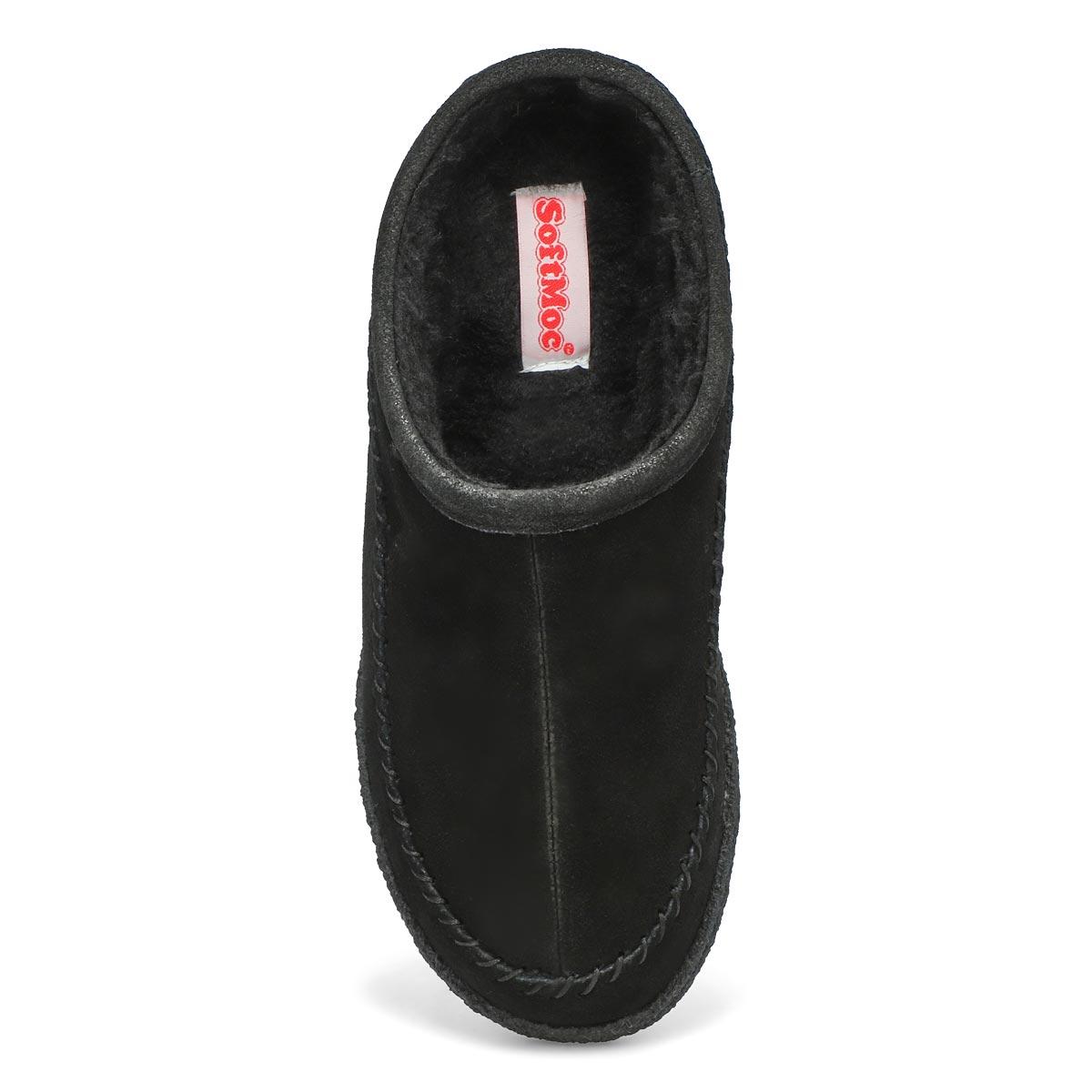 Mns Pauly III black suede open slipper