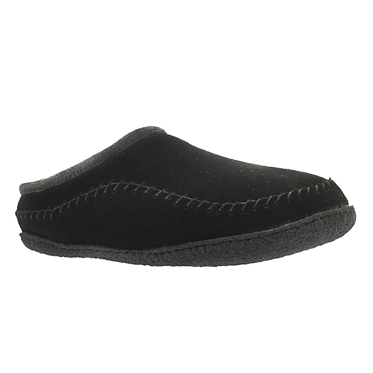 Men's PAULY III black suede open back slippers