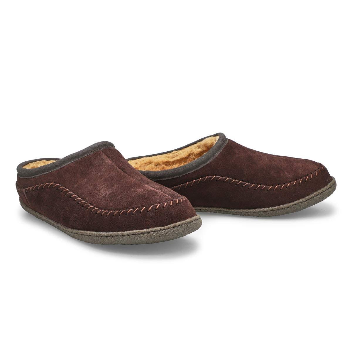 Men's PAULY III rootbeer suede slippers