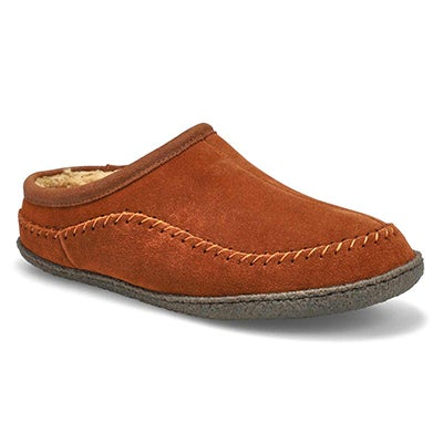 SoftMoc Men's PAULY III spice suede open slippers