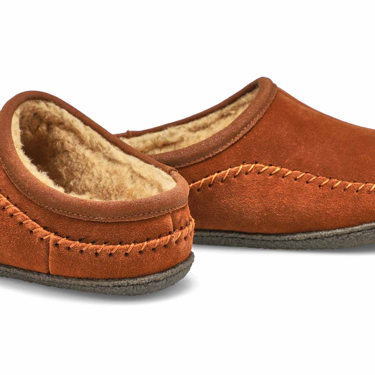 Mns Pauly III spice suede open slipper