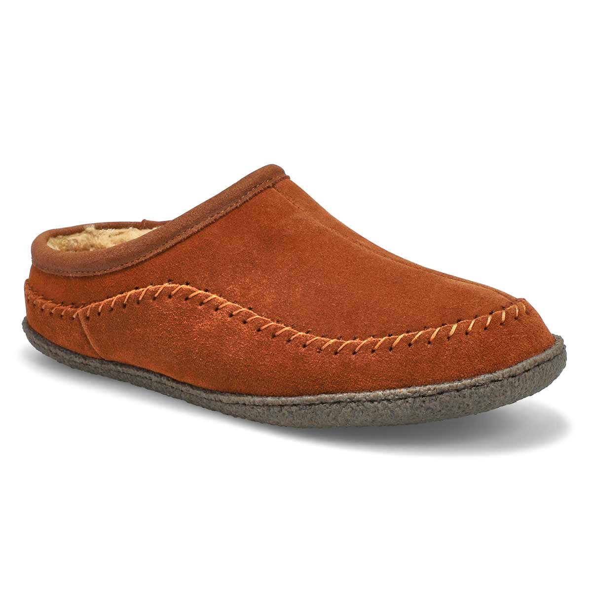 Men's PAULY III spice suede open slippers