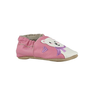 Infs-g PBear pink slippers