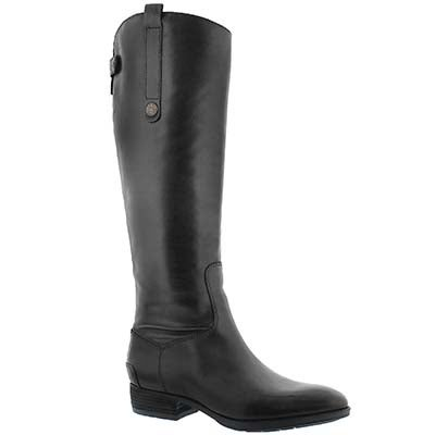 Sam Edelman Women's PENNY black tall riding boots