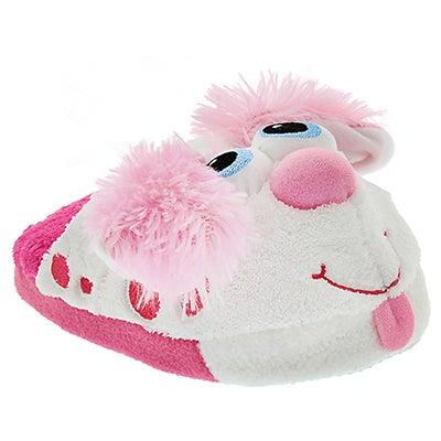 StompeezFun Kids' pink STOMPEEZ PERKY PUPPY slippers