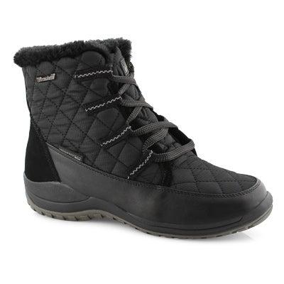 Lds Peta black short wtpf winter boot