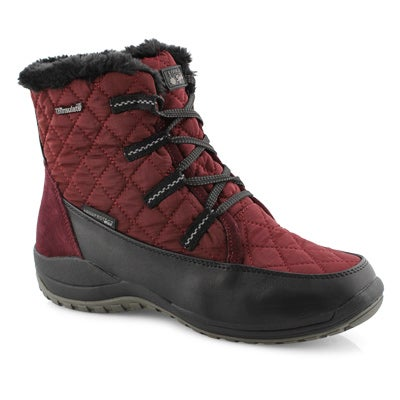 Lds Peta burgundy short wtpf winter boot