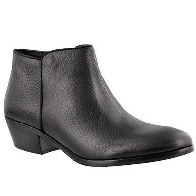 Sam Edelman Women's PETTY black leather casual booties