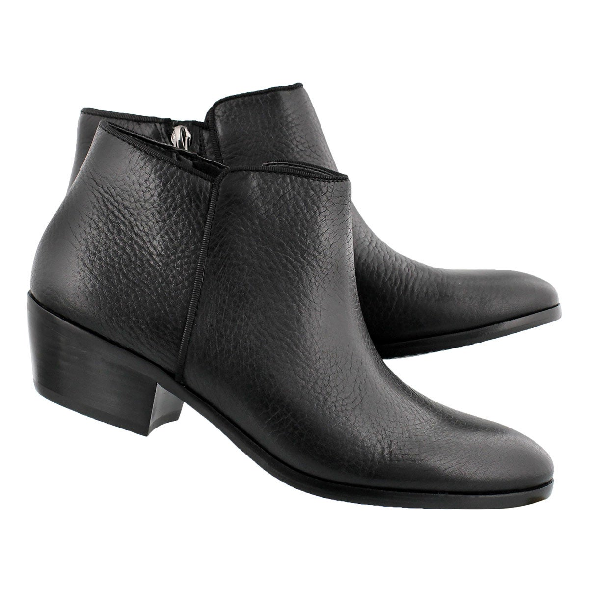 Lds Petty black leather casual bootie
