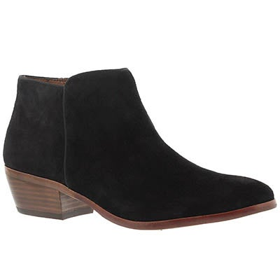 Sam Edelman Women's PETTY black suede casual booties