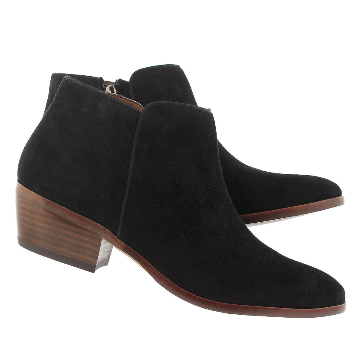 Lds Petty black suede casual bootie