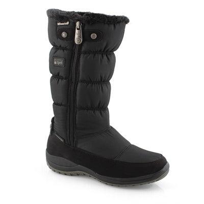 Lds Petunia black wtpf tall winter boot