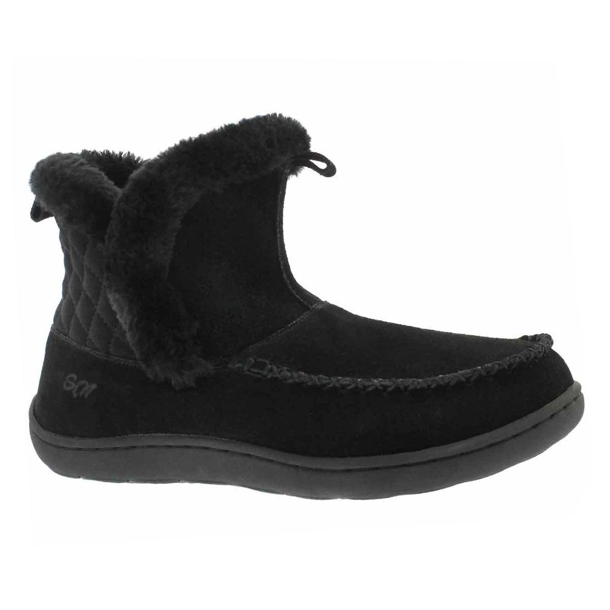 Women's PHOEBE LO black suede slipper booties