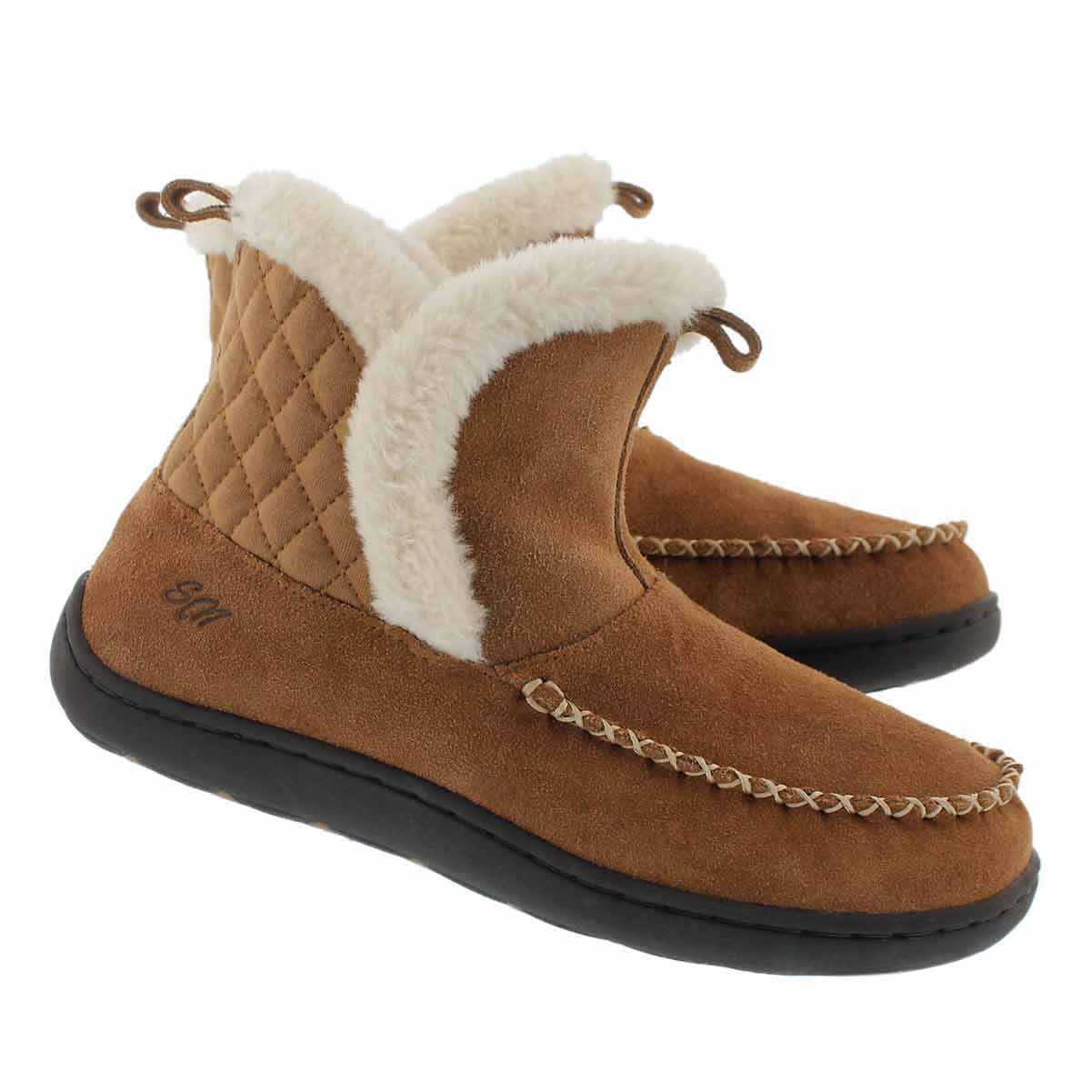 Lds Phoebe Lo ches suede slipper bootie