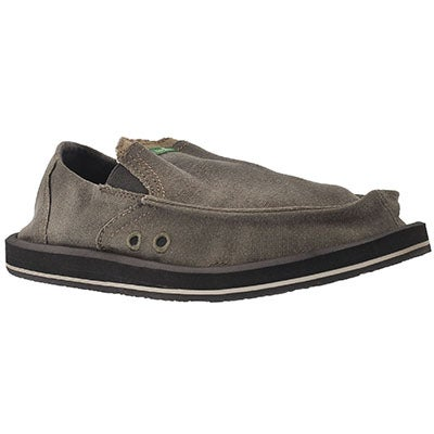 Sanuk Men's PICK POCKET brown slip-on shoes