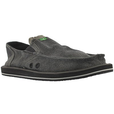 Sanuk Men's PICK POCKET charcoal slip-on shoes