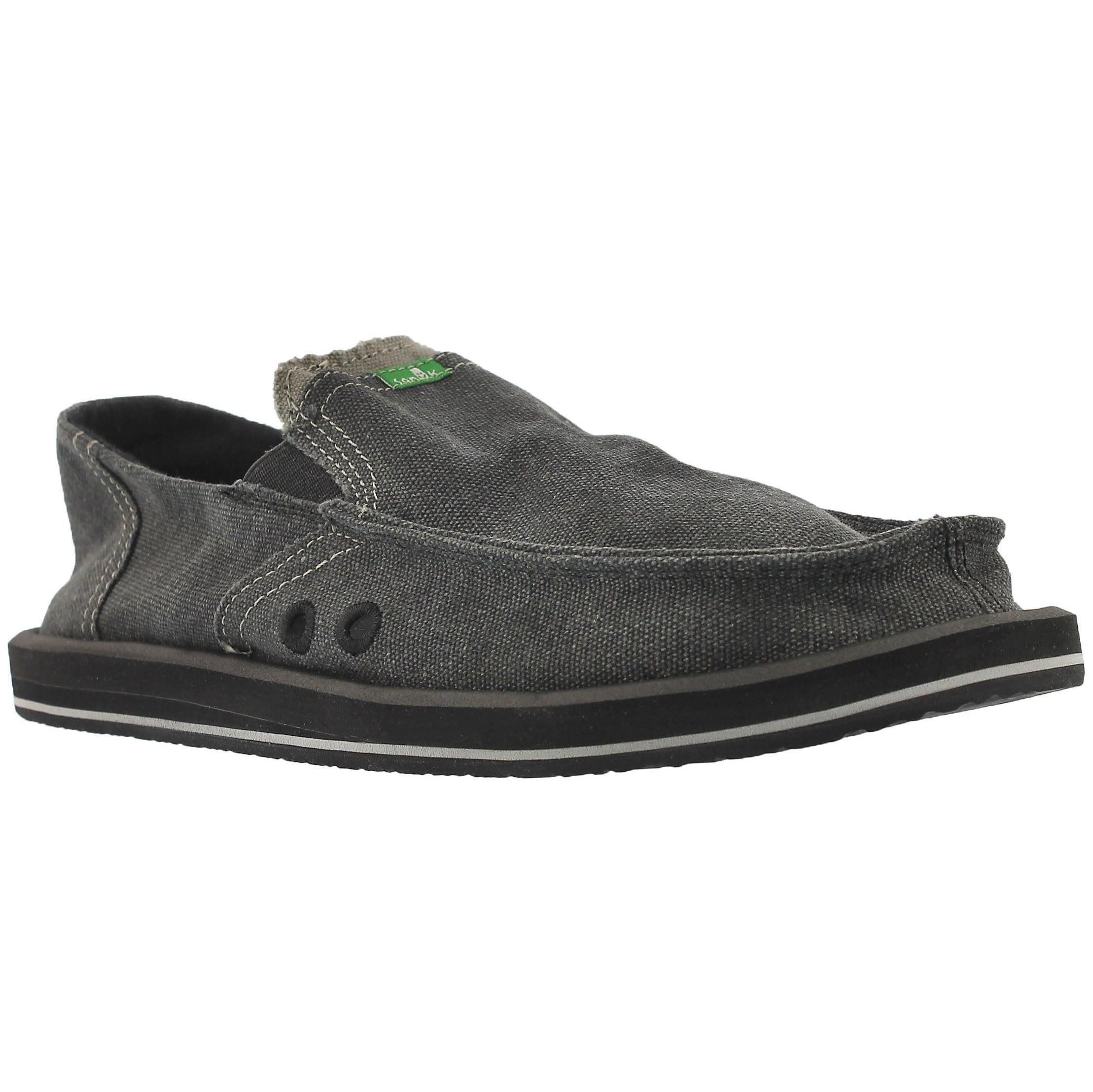 Men's PICK POCKET charcoal slip-on shoes