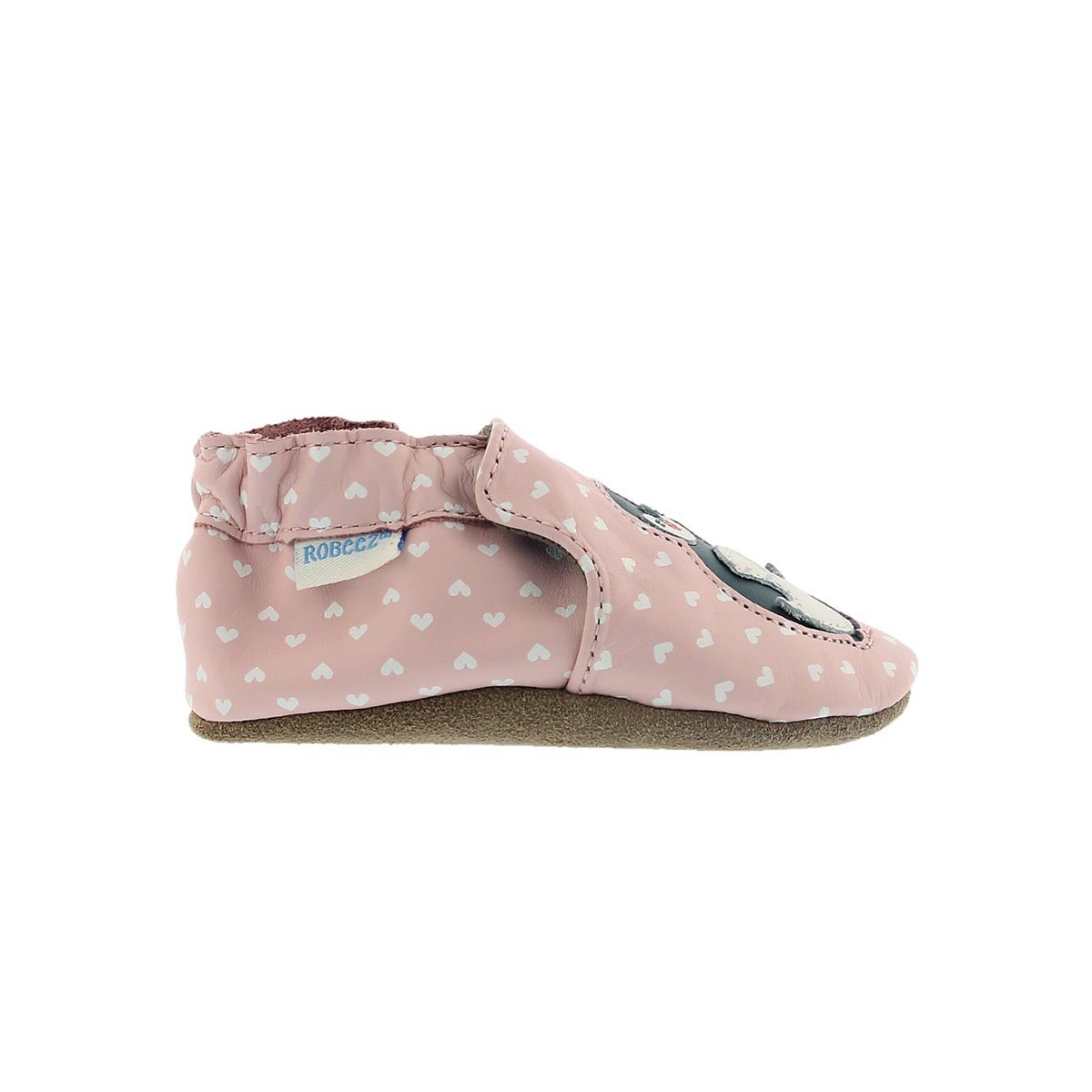 Inf Piper Penguin pastel pink slipper