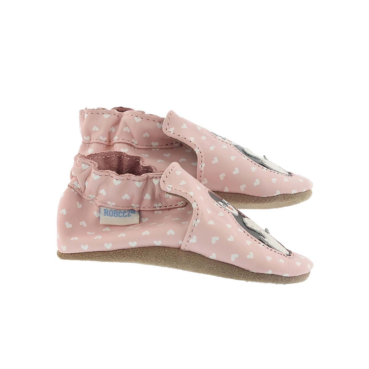Inf Piper Penguin pastel pink slipper