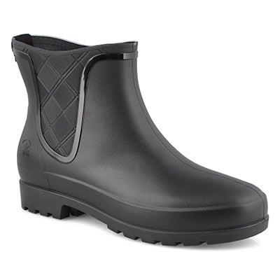 Lds Pippa black chelsea rain boot