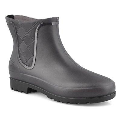 Lds Pippa charcoal chelsea rain boot