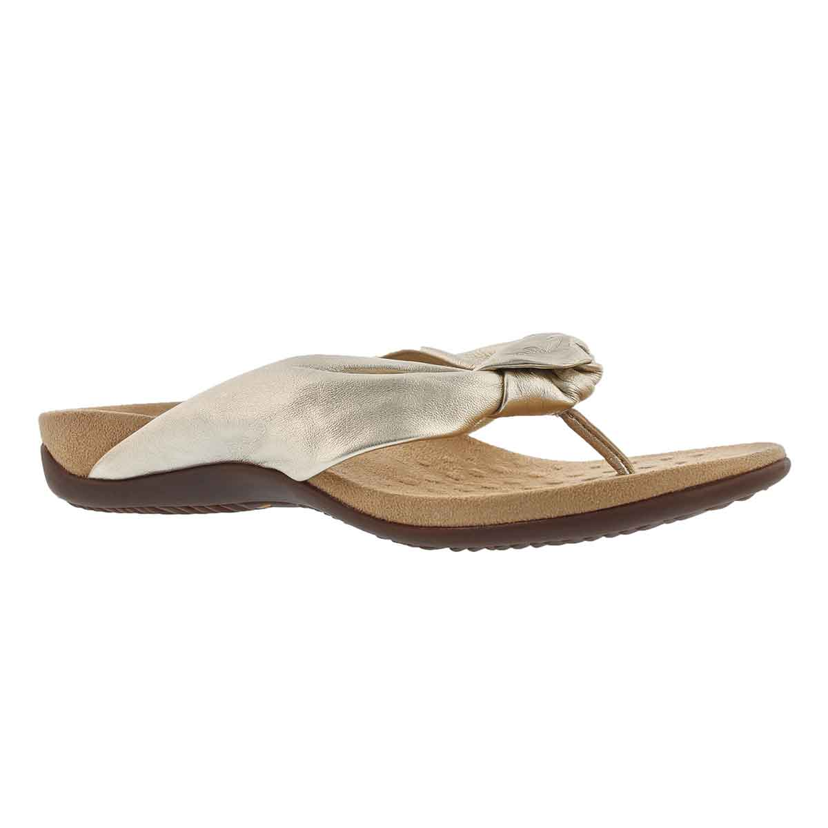 Women's PIPPA champagne arch supprt thong sandals